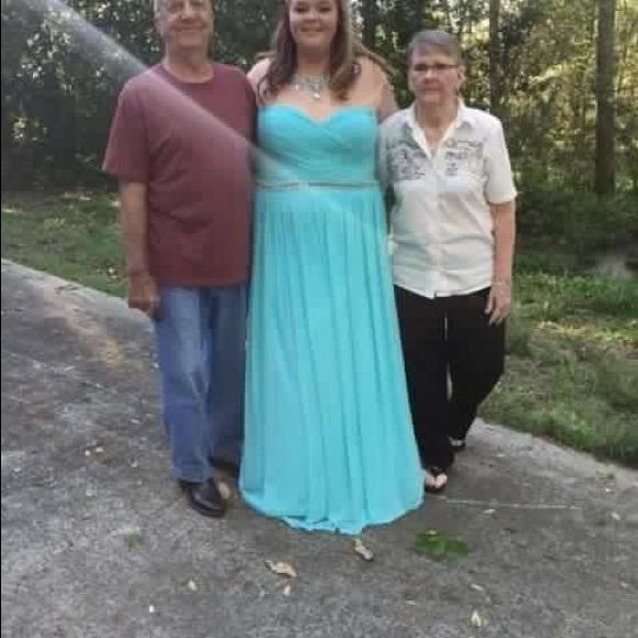 Sherri Hill Dresses | Size 22 Aqua Blue Prom Dress | Poshmark